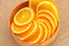 naczynia drewniany owocowy Zdjęcie Stock