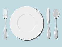 Naczynia i cutlery Zdjęcie Royalty Free