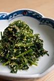 naczynia japończyka szpinak Zdjęcie Royalty Free