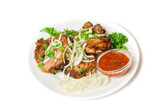 naczynia kebab shish Fotografia Royalty Free