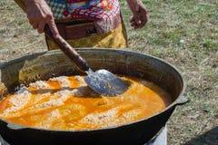 naczynia krajowy pilaf uzbek bliskowschodni lub Indiański naczynie ri Zdjęcia Royalty Free