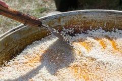 naczynia krajowy pilaf uzbek bliskowschodni lub Indiański naczynie ri Fotografia Stock