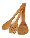 naczynia kuchenne drewna Zdjęcie Royalty Free