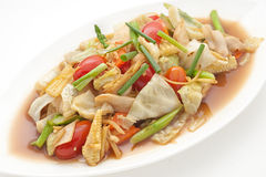 Naczynia międzynarodowa kuchnia w restauraci Zdjęcie Stock