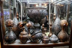 Naczynia na starym rynku w Isfahan Iran zdjęcie stock