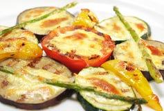 naczynia piec na grillu boczni warzywa Zdjęcia Royalty Free