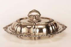 naczynia porcja srebro Zdjęcie Stock