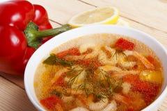 Naczynia śródziemnomorska kuchnia od warzyw i garneli Zdjęcia Royalty Free