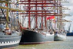 Naczynia ` Sedov ` doki w Klaipeda podczas Wysokiego statku Ścigają się 2017 Fotografia Stock