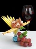 naczynia smakosza prosciutto Zdjęcie Royalty Free