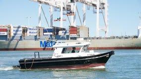 Naczynie ankieta 3 przechodzi port Oakland Obrazy Stock