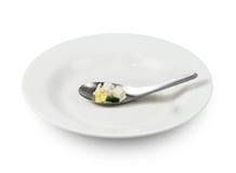 Naczynie i łyżka obrazy stock
