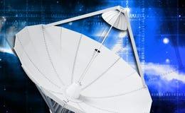 naczynie ilustracja odizolowywał wektorowego satelita biel obrazy stock