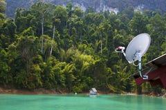 naczynie ilustracja odizolowywał wektorowego satelita biel Fotografia Stock