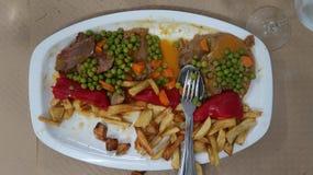 Naczynie mięso i vegeteables obraz royalty free