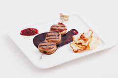 Naczynie mięsny kebab Zdjęcie Stock
