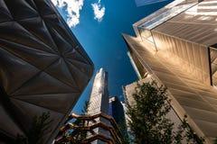 Naczynie w Hudson jardach, Nowy Jork, NY, usa fotografia stock
