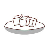 Naczynie z cukrowymi sześcianami ilustracja wektor