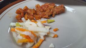 Naczynie z menu wołowina lub powszechnie nazwany rendang z zalewami obraz royalty free