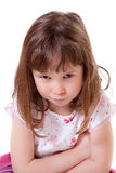 Nadąsana mała dziewczynka Zdjęcia Stock