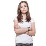 Nadąsana nastoletnia dziewczyna zdjęcia stock