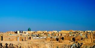Nadżaf Salaam aka muzułmański cmentarz, wielki w worl Obraz Stock