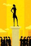 nad ścieżka biel odosobniony biznesu lider ilustracja wektor