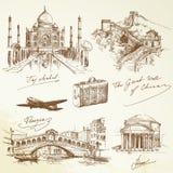Nad światową podróżą - ilustracja Zdjęcia Royalty Free