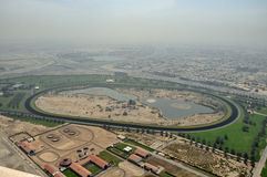 Nad Al Sheba Racecourse Circuit Stock Images
