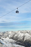 nad alps gondoli dźwignięcia gór narta Zdjęcie Royalty Free