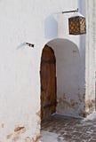 nad antykwarska drzwiowa lampowa ulica Fotografia Stock