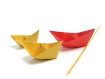 nad biel łódkowaty origami zdjęcie royalty free
