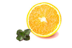 nad biel odosobniona nowa pomarańcze Obraz Stock