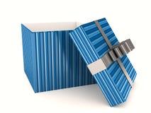 nad biel pudełkowaty tło prezent Fotografia Stock