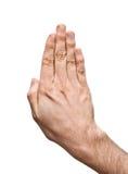 nad biel ręki samiec Obraz Stock