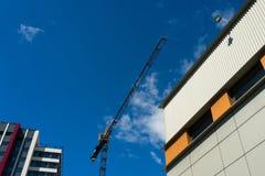 nad budowy żurawia miejsca widok Obrazy Stock