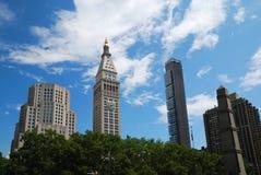 nad budynków miasta nowi drzewa York Zdjęcie Royalty Free