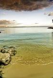 nad burzą plażowe chmury Zdjęcie Royalty Free