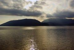 nad chmur howe wysp promieni słońce Zdjęcie Stock