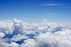 Nad chmura od lotniczego samolotu Zdjęcie Royalty Free