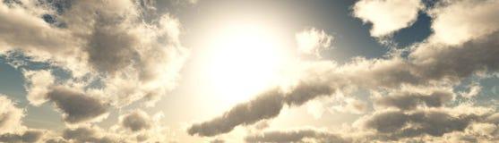 Nad chmurami ilustracja wektor