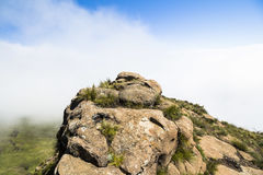 Nad chmury na wartownik podwyżce, Drakensberge, Południowa Afryka Obrazy Stock