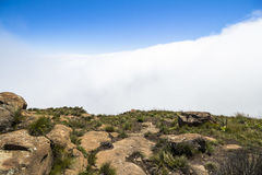 Nad chmury na wartownik podwyżce, Drakensberge, Południowa Afryka Obraz Stock
