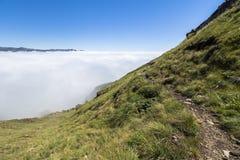 Nad chmury na wartownik podwyżce, Drakensberge, Południowa Afryka Zdjęcia Royalty Free