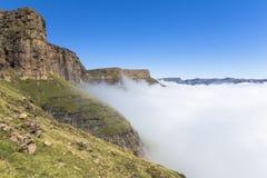 Nad chmury na wartownik podwyżce, Drakensberge, Południowa Afryka Fotografia Stock