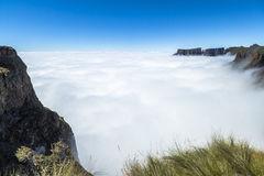 Nad chmury na wartownik podwyżce, Drakensberge, Południowa Afryka Fotografia Royalty Free