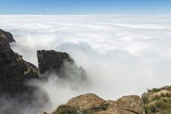 Nad chmury na wartownik podwyżce, Drakensberge, Południowa Afryka Obraz Royalty Free
