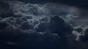 Nad chmury przy nocą fotografia stock