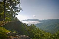 Nad chmury w Blue Ridge Mountains zdjęcie royalty free
