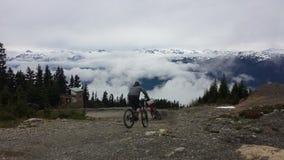 Nad chmury w Whistler roweru parku Fotografia Royalty Free